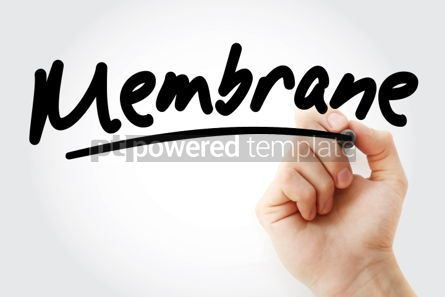 Business: Hand writing Membrane with marker #02071