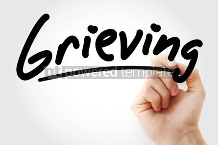 Business: Hand writing Grieving with marker #02072