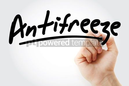 Business: Hand writing Antifreeze with marker #02073