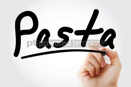 Business: Hand writing Pasta with marker #02084