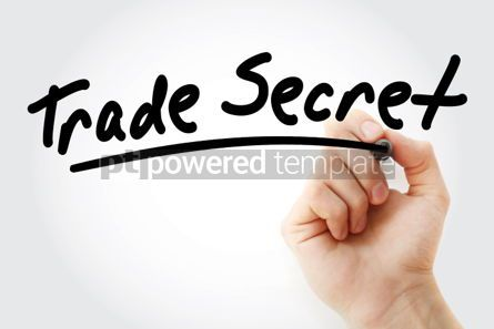 Business: Hand writing Trade secret with marker #02085