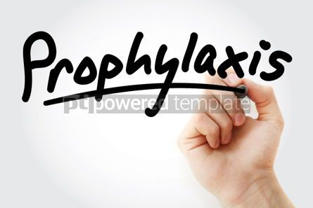Business: Hand writing Prophylaxis with marker #02094