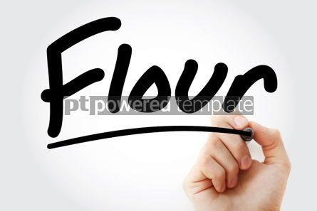 Business: Hand writing Flour with marker #02095