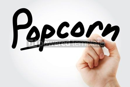 Business: Hand writing Popcorn with marker #02106