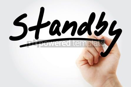 Business: Hand writing Standby with marker #02113