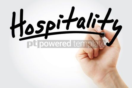 Business: Hand writing Hospitality with marker #02123