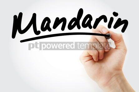 Business: Hand writing Mandarin with marker #02124