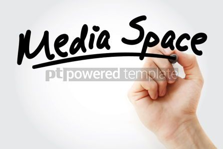 Business: Hand writing Media space with marker #02125