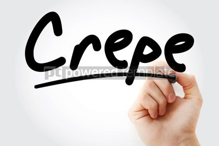 Business: Hand writing Crepe with marker #02130