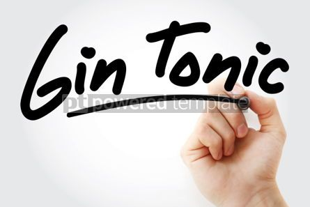 Business: Hand writing Gin tonic with marker #02133