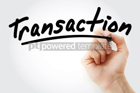 Business: Hand writing Transaction with marker #02138