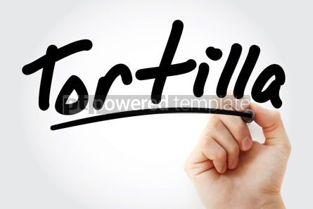 Business: Hand writing Tortilla with marker #02142