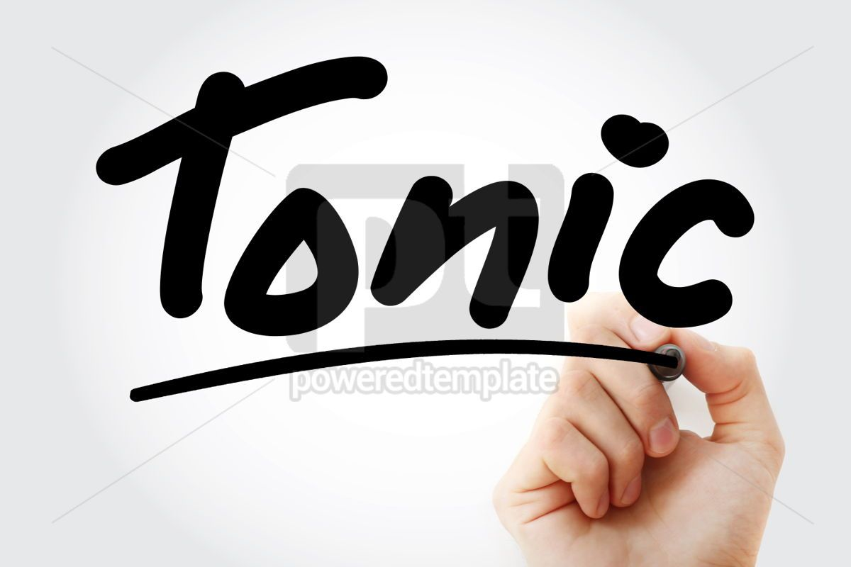 Hand writing Tonic with marker, 02143, Business — PoweredTemplate.com