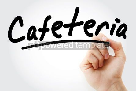 Business: Hand writing Cafeteria with marker #02147