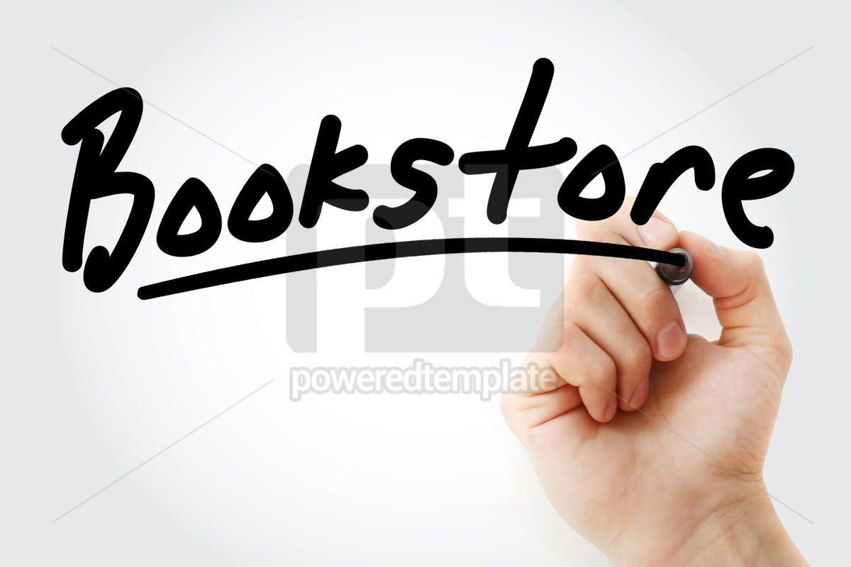 Hand writing Bookstore with marker, 02148, Business — PoweredTemplate.com