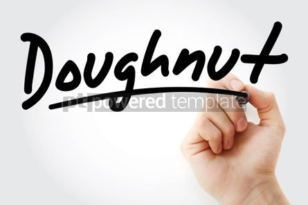 Business: Hand writing Doughnut with marker #02150