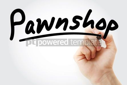 Business: Hand writing Pawnshop with marker #02156