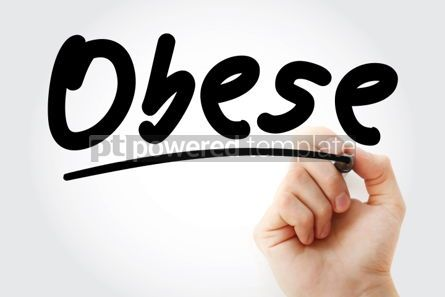 Business: Hand writing Obese with marker #02158