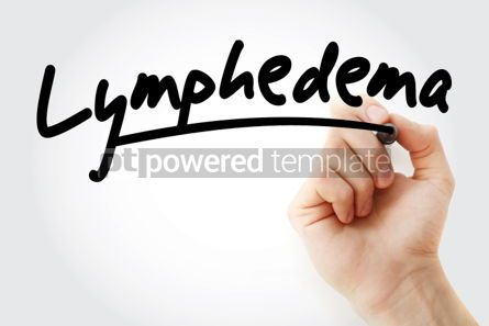 Business: Hand writing Lymphedema with marker #02159