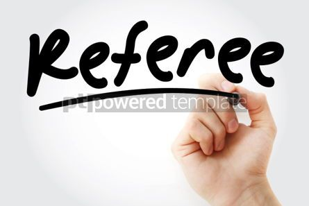 Business: Hand writing Referee with marker #02165