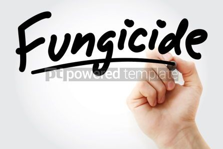 Business: Hand writing Fungicide with marker #02169