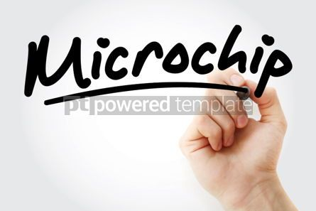 Business: Hand writing Microchip with marker #02171
