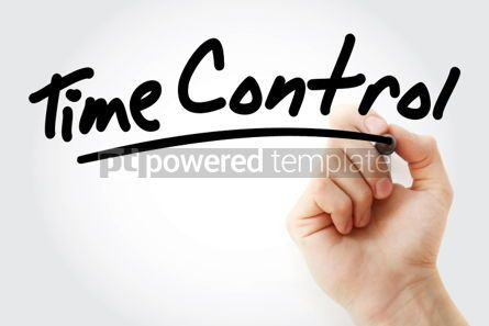 Business: Hand writing Time control with marker #02187