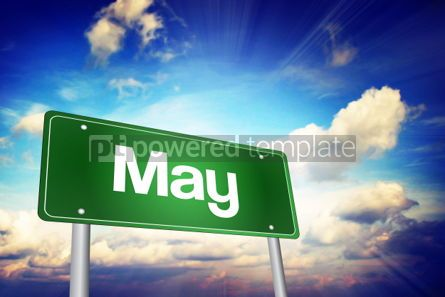 Business: May Green Road Sign Months of the Year concept