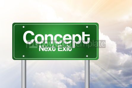 Business: Concept Just Ahead Green Road SignConcept Just Ahead Green  #02212