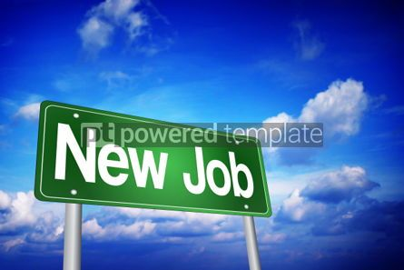 Business: New Job Green Road Sign Business Concept #02214