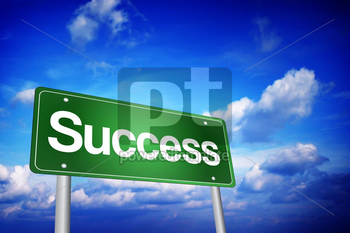 Success Green Road Sign Business Concept, 02215, Business — PoweredTemplate.com
