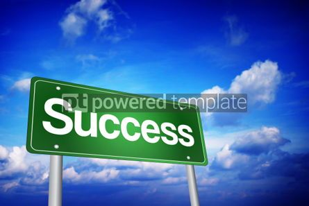 Business: Success Green Road Sign Business Concept #02215