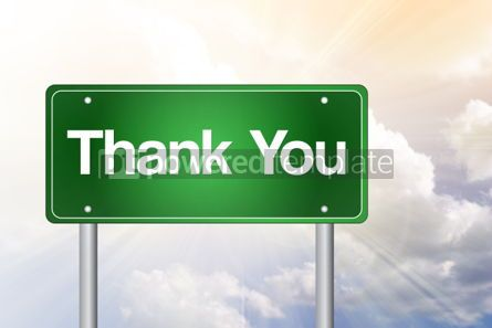 Business: Thank You Green Road Sign concept #02216