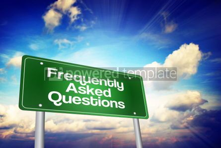 Business: Frequently Asked Questions (FAQ) Green Road Sign Business Conce #02224