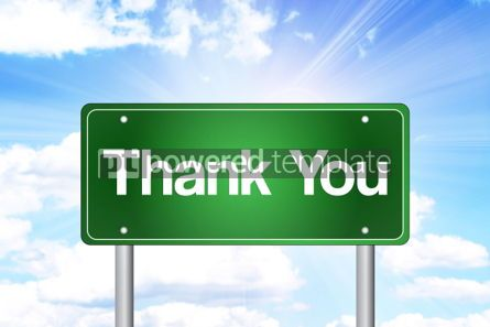 Business: Thank You Green Road Sign Business Concept