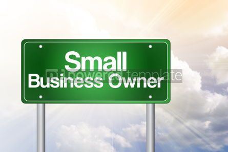 Business: Small Business Owner Green Road Sign Business Concept #02235