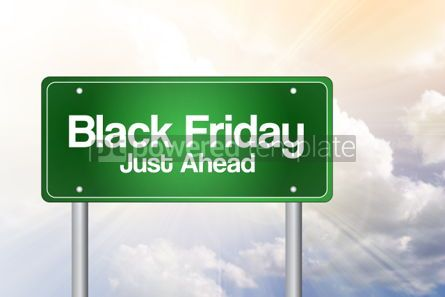 Business: Black Friday Just Ahead Green Road Sign Business Concept