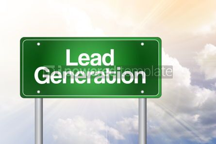 Business: Lead Generation Green Road Sign Business Concept #02246