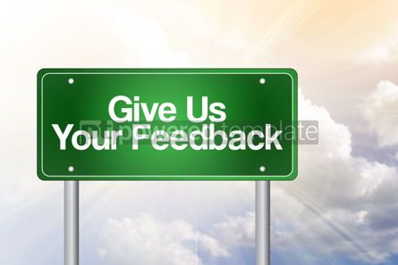 Business: Give Us Your Feedback Green Road Sign Business Concept #02247