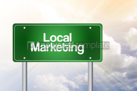 Business: Local Marketing Green Road Sign Business Concept #02248