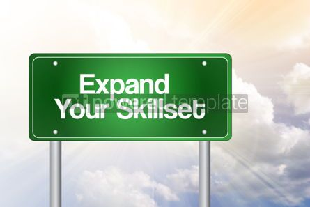 Business: Expand Your Skillset Green Road Sign Business Concept