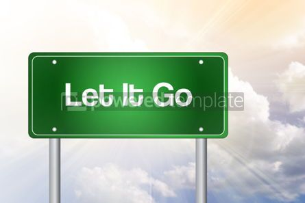 Business: Let It Go Green Road Sign Business Concept #02261