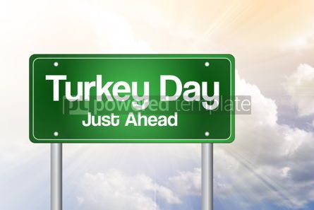 Business: Turkey Day Green Road Sign Concept #02265