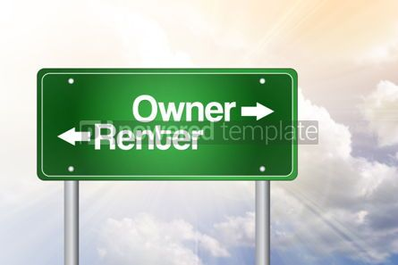 Business: Owner Renter Green Road Sign Business Concept