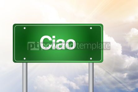 Business: Ciao Green Road Sign Concept