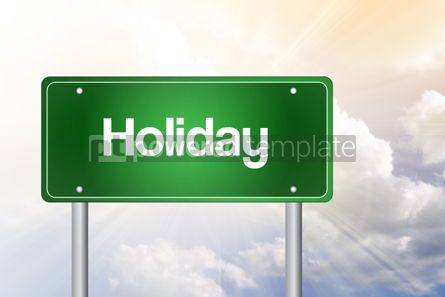 Business: Holiday Green Road Sign Concept