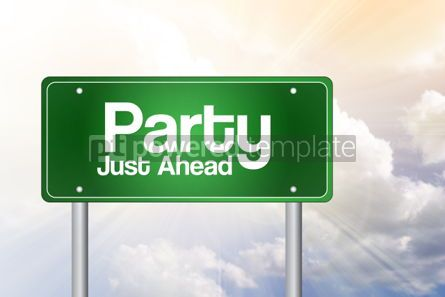 Business: Party Green Road Sign Concept