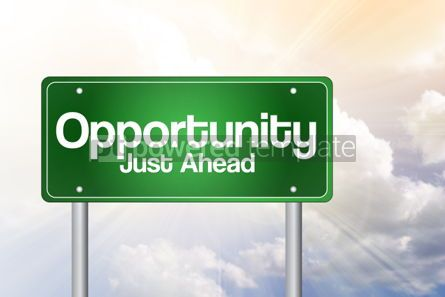 Business: Opportunity Green Road Sign business concept
