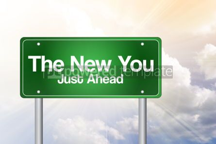 Business: The New You Green Road Sign business concept