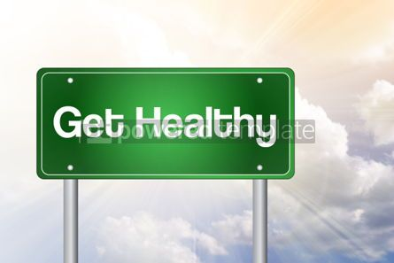 Business: Get Healthy Green Road Sign business concept